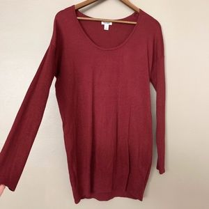 Old Navy Maroon Wine Red Mini Sweater Dress
